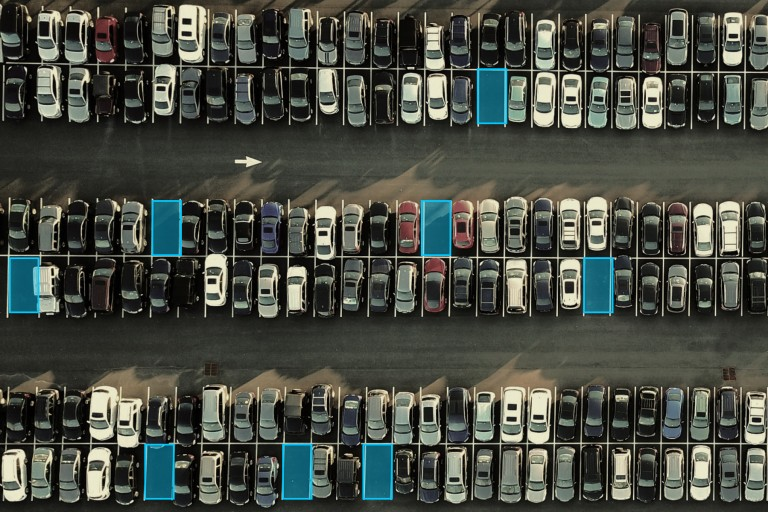 parking lot used for satellite imagery